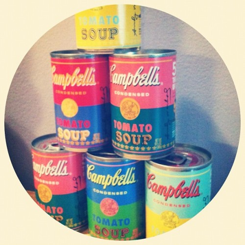 Andy Warhol for Campbell's (Taken with Instagram)