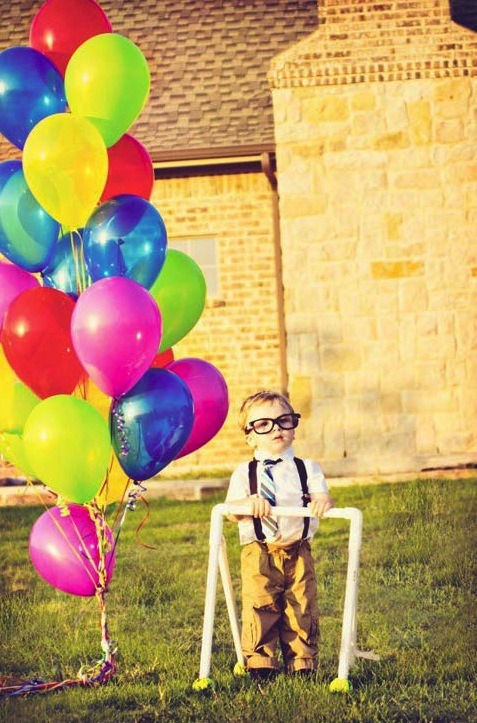 "teendotcom:  This two-year old has his own UP! party ""CUTE!"" of the day!"