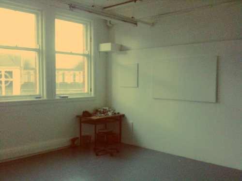 new studio space for my MFA at the art college (with nice view of the cathedral)