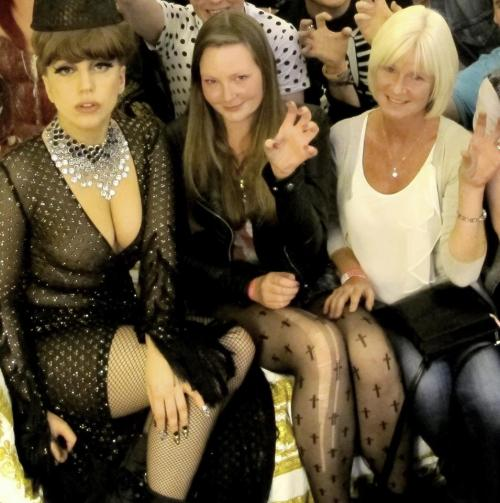 Gaga backstage with fans after her show in Ireland.