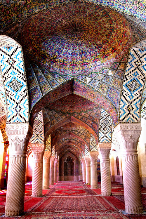ofjared:  nasir ol-molk mosque, shiraz, iran built from 1876-1888. photo by hanif shaoei.