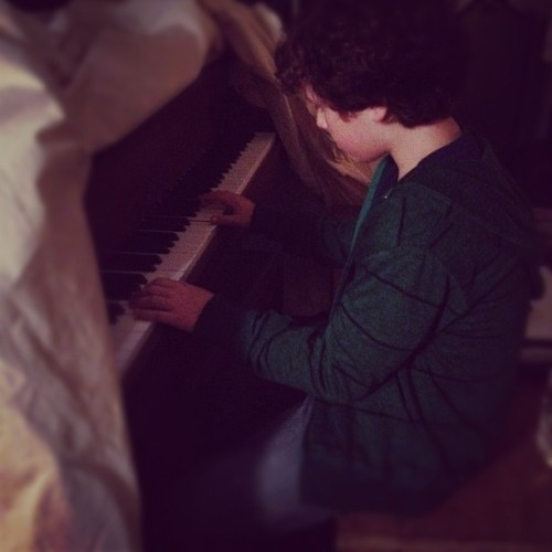 officialarielwinter:  @nolan_gould Kid genius. Adding musician to the resume. (Taken with Instagram)