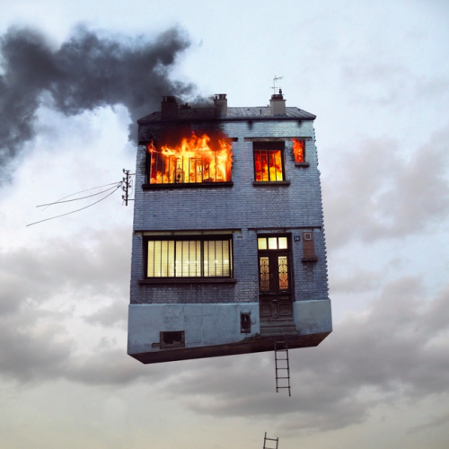 Laurent Chehere, from Flying Houses series
