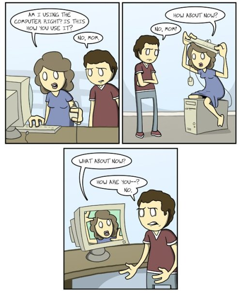 """Computer Mom"" by Amazing Super Powers [Click to see more comics]"