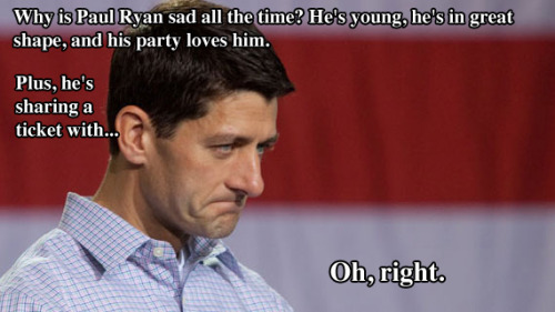ccindecision:  Wallow in Paul Ryan's continued misery.