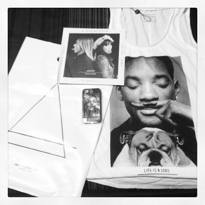 Goodies from Eleven Paris! Life is a joke… #willsmith #katemoss #iggypop #daisylowe (Taken with Instagram)