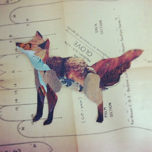 Little fox guy collage (Taken with Instagram at Cornish Senior Studios)