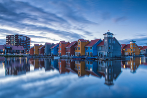 """Descending calmness - Reitdiephaven, Groningen, The Netherlands"" by Bas Meelker"