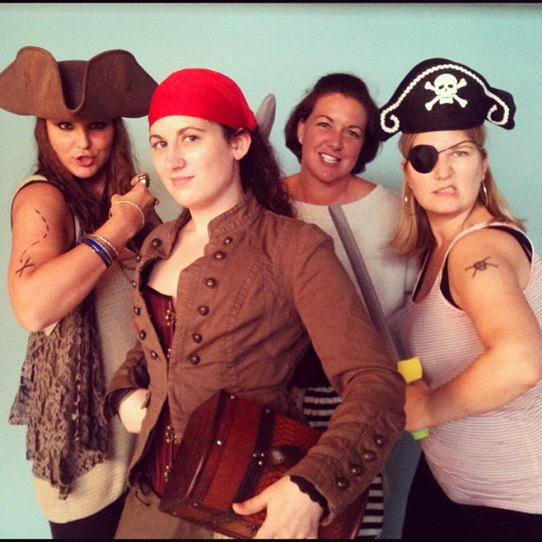 Aaargh! A few of our festive buyers celebrate #TalkLikeAPirate Day!  (Taken with Instagram at Zulily)