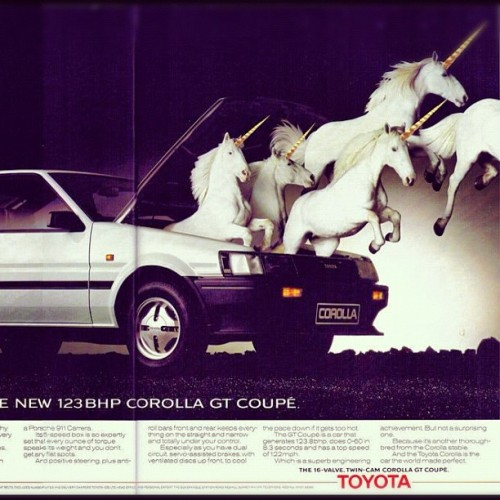 whatmonstersdo:  #TOYOTA #AE86 #86 #UNICORN #WHATMONSTERSDO  (Taken with Instagram)