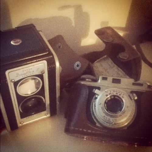 meet #kodak duaflex ii and #bolsey b :) #vintage #film #cameras (Taken with Instagram)