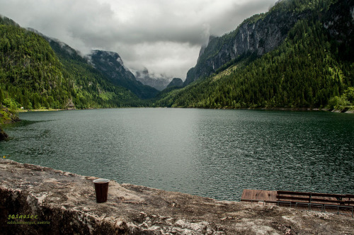 A very discreetly hidden lake, Gosausee. It was a happy 2-hour walk around the lake, almost feeling like we discovered it!