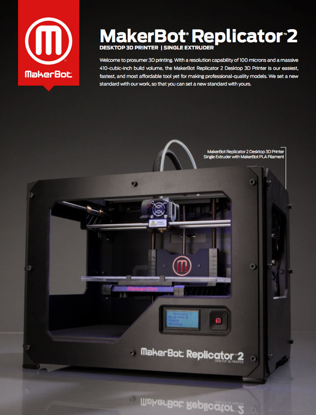 laughingsquid:  MakerBot Announces the Replicator 2 Desktop 3D Printer & A Manhattan Retail Store