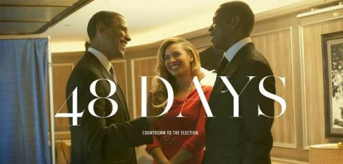 barackobama:  48 days. Get registered. (photo via your BFF and ours, Beyoncé)  Countdown.