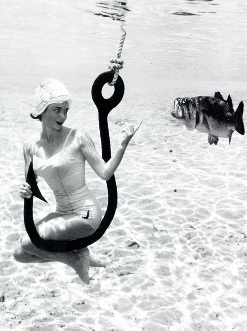 Underwater photography by Bruce Mozert c. 1950's