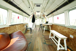 Old Subway Cars Transformed into Cool Studios. London