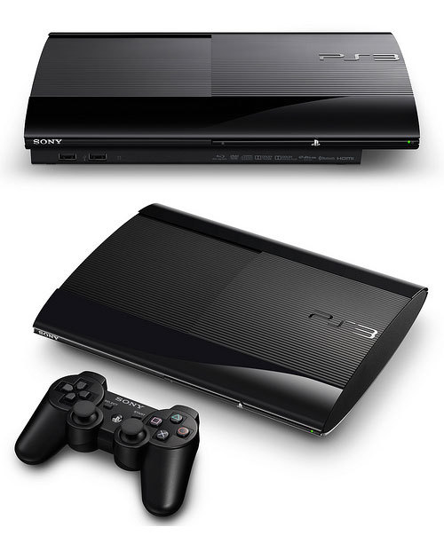 gamefreaksnz:  Sony unveils super slim PlayStation 3 in Tokyo  Sony is to launch a new smaller, lighter version of the PlayStation 3 console.  Shawn writes: This shit fits in your wallet!  Still, I'm waiting until the PS3 is as thin as tissue so it can catch my tears as I lose at every FPS I play.