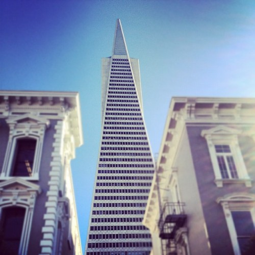 The Transamerica Pyramid by William L Pereira (1972), San Francisco's tallest! #architecture #archdaily #california #sanfrancisco #skyscraper #iphonesia #iphonesia  (Taken with Instagram at Transamerica Pyramid)