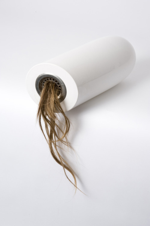 Shane Porter: Rented, 2012, Earthenware, Stainless Steel, Human Hair