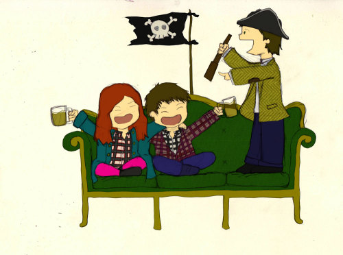 Have a jolly Talk Like a Pirate day, ye land lubbers! (old piratey Doctor Who pic)