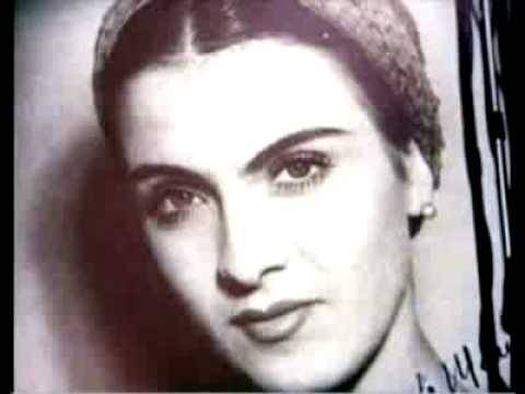 Romanian folk singer Maria Tănase, born September 19, 1913.