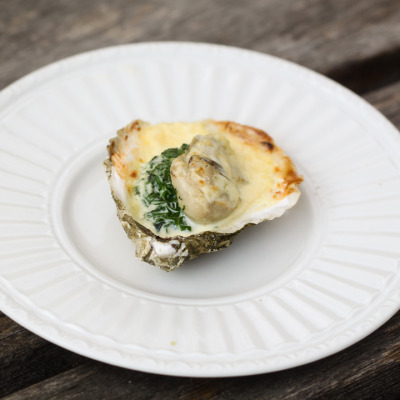 Oysters Rockefeller with recipe (link)