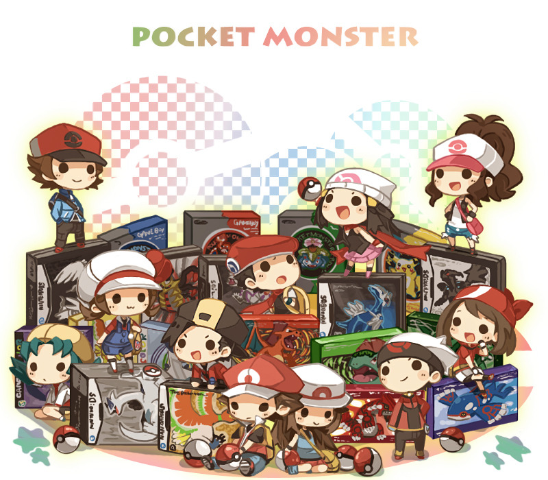 Pokemon trainers posing with their respective Japanese boxes, illustrated by Yuu. Maybe one of the 2 million artists that follows us can create a Western equivalent. I like how Red would rather be somewhere else. He just really doesn't like to fuck around. Buy: Pokemon Black/White Version 2, Pokemon ConquestSee also: More Pokemon news and media[Image via Yuu]