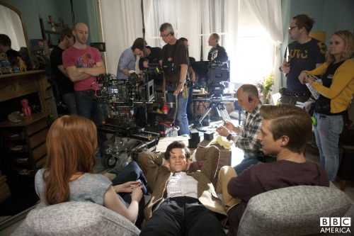 doctorwho:  At Home With The Ponds Behind the scenes on 'The Power of Three'