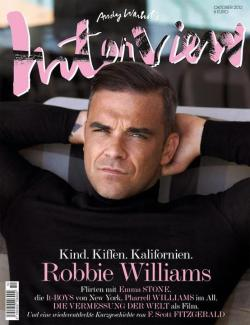 Magazine cover (Robbie Williams by Sean & Seng, INTERVIEW GERMANY OCTOBER 2012, via thecysight)