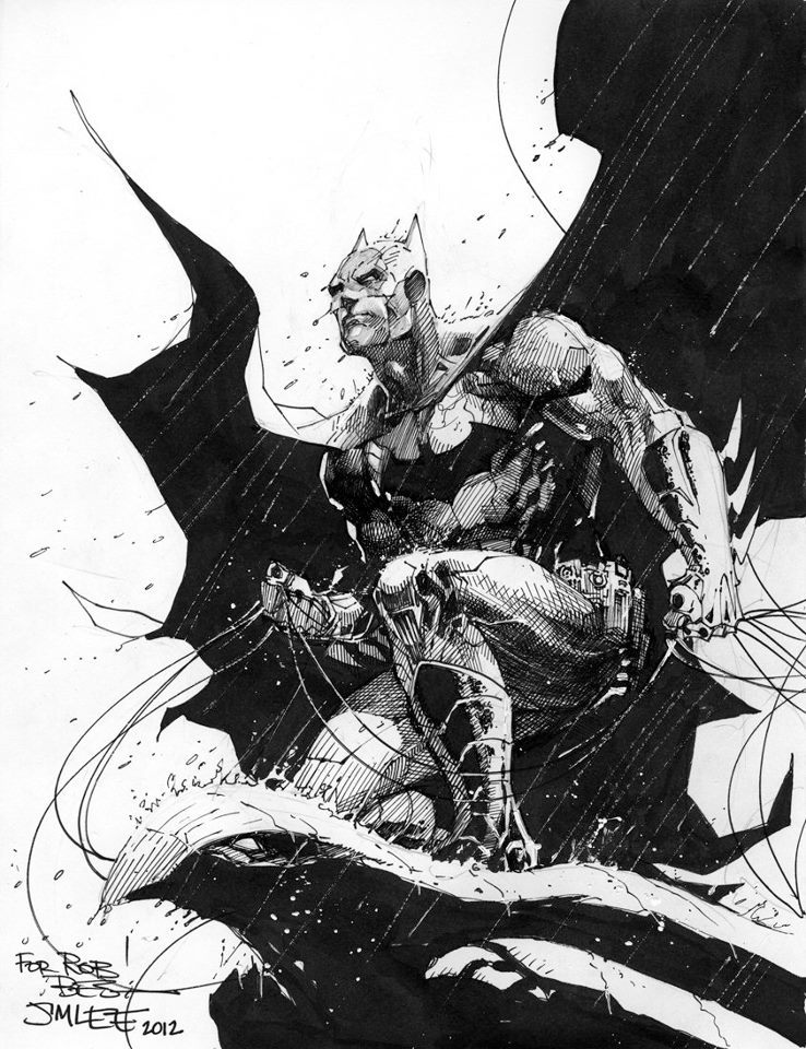nothingbuthebrain:  Batman by Jim Lee