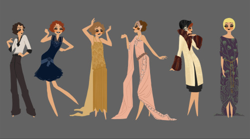 Costume exploration from the 1920s.