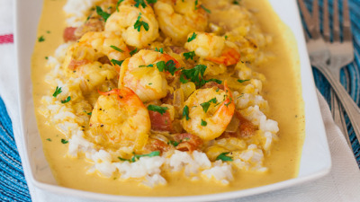 Coconut Shrimp Curry with recipe (link)