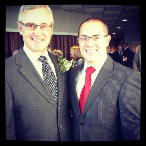 Two studs. @MikeCanales1 & Jim Tressel! #Ohio #Buckeyes #OSU  (Taken with Instagram)