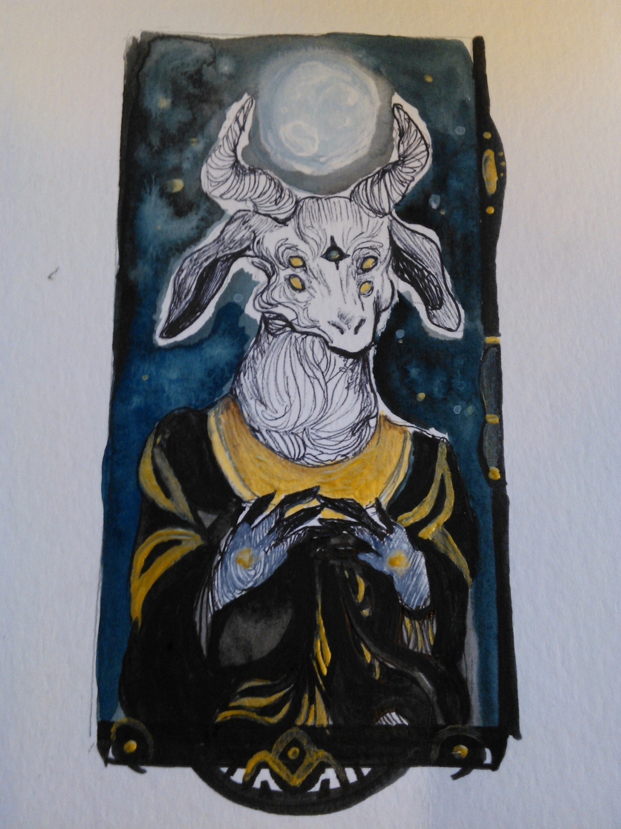 goat tarot card for senior thesis.