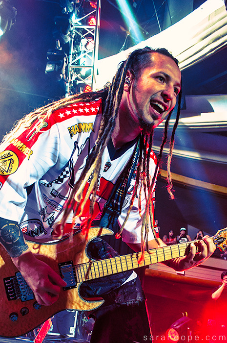 Zoltan Bathory of Five Finger Death Punch on the Trespass America Festival. Hollywood, CA. Taken August 28, 2012.