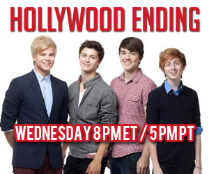 Hollywood Ending Chats Live On Stickam Wednesday 5 PM PST Join Hollywood Ending live today (Wednesday 9/18) at 8 PM ET / 5 PT for a band chat!  It will be the last chance to chat with the guys before they head out on The Boys Of Summer Tour!! Tune in at 8PM EST / 5PM PST www.stickam.com/hollywoodending http://stickam.com/hollywoodending