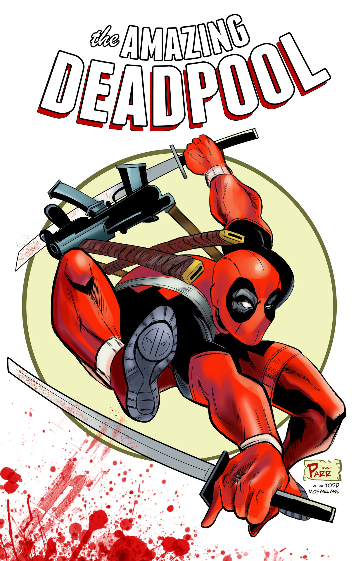 The Amazing Deadpool! Tribute to todd mcfarlane and Rob Liefeld, by Terry Parr.