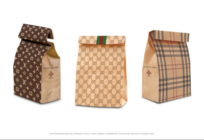 For some, it's a luxury. High Fashion Lunch Bags.