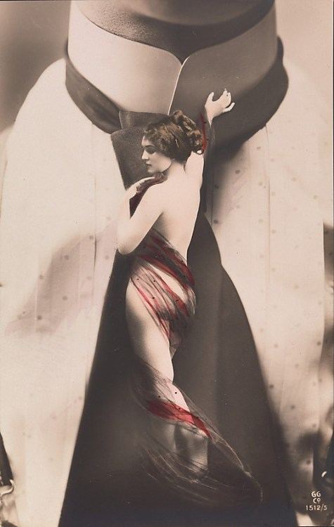 wwwambrosecomtumblr:  Nude Woman on Man's Necktie/ Unknown Artist (Publisher:Gerlach & Martin Gerlach, Jr.)