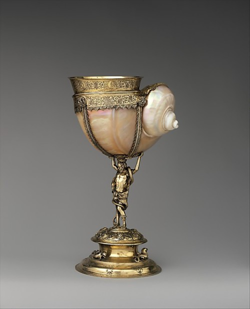 omgthatartifact:  Nautilus Cup Germany (Breslau), late 16th century The Metropolitan Museum of Art