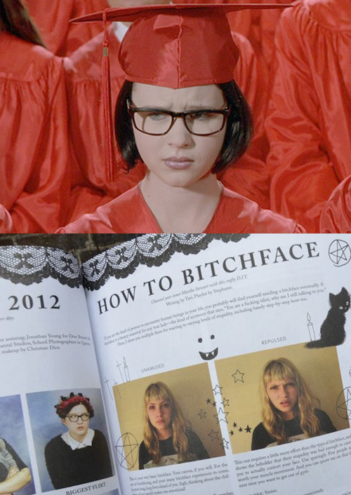 modcloth:  Who would win in a Bitchface contest? Enid from Ghost World or our Editor-in-Chief, Tavi Gevinson? It's a pretty close call IMHO, but I'd prefer to learn from the master Tavi, and the instructional manual found in our new book, Rookie Yearbook One. You can get it here! - Guest Editor from Rookie, Beauty and Style Advice Columnist Marie Lodi Enid photo source: Lanacion.com Yearbook One photo source: Broward Palm Beach New Times   Hey guys, we're guest-editing the Modcloth Tumblr today! FUNTIMES. xAA