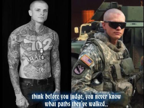 pinkii-supermom-armysista:  Support Tattooed Military!  this is pretty awesome. it's not everyday i run into a familiar face in here.sgt baker is in the same brigade as I am.