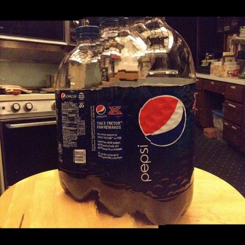 This is the best of my #panorama photos depicting a bottle of #pepsi in its true form. We have been learning about cubists in art history and the new panorama camera feature in #ios6 has has me thinking today, what if I tried to depict the dimensions of an object in a 2 dimensional way? It's quite difficult to get steady but well worth the experiement. #art #iphone #soda #beverage #cubism #neat (Taken with Instagram)