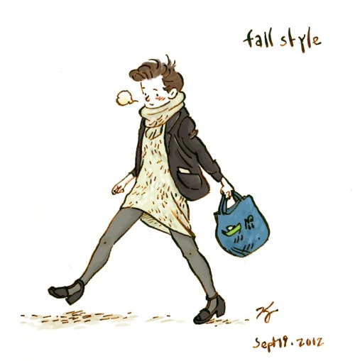 qinleng:  Fall is coming!  This was my outfit today.