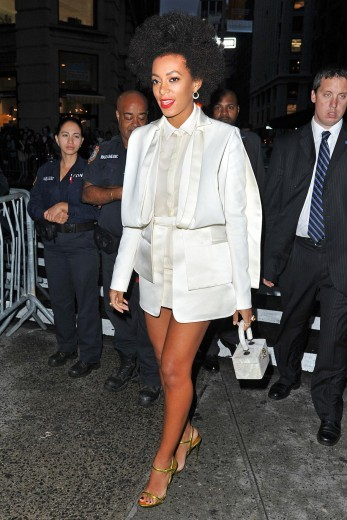 Four Million for Obama 2012: Solange Knowles arrives to the President Barack Obama Fundraiser at the 40/40 Club in New York City.