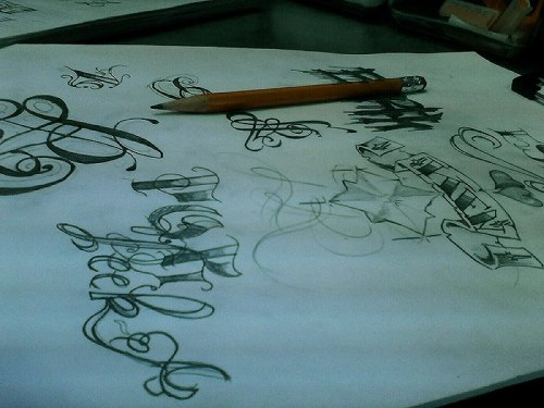 artistcompilation:  calligraphy practice