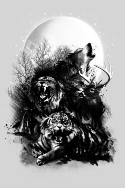 "teedesigners:  Call of the Wild need your votes at Threadless give me 5 and click the box ""email if this gets made"" thankshttp://www.threadless.com/submission/458021/Call_of_the_Wild"