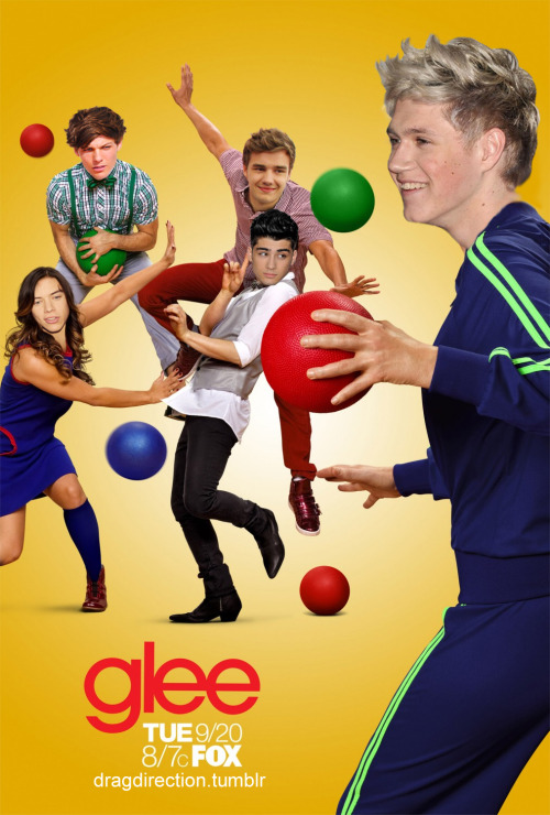 quiffsandcurly:  dragdirection:  This is the last Glee poster I swear.  NIALL AS JANE LYNCH OMFG MY LIFE