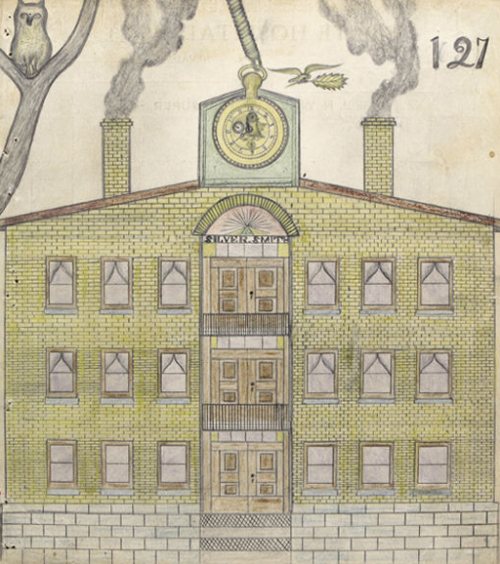 Two hundred eighty-three drawings by Edward Deeds, a Nevada state mental hospital patient at the turn of the century.