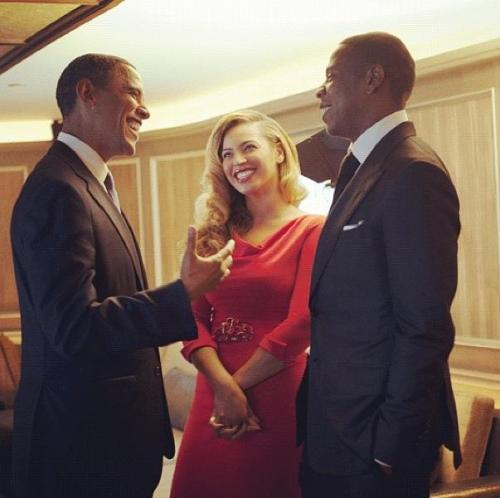 hipsterbleedsglitter:  obama, byonce, and jay z